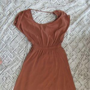 Love 21 Forever 21 Rusty Orange High Low Dress
